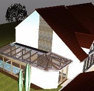véranda bioclimatique, piscine & spa Carnetin Le Parc